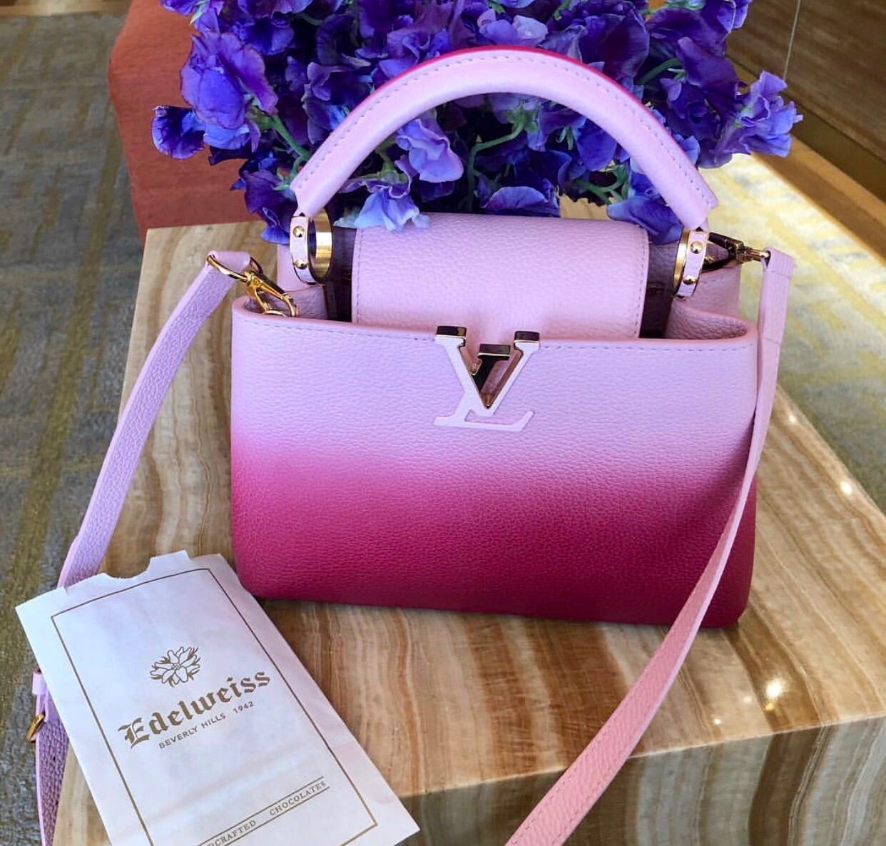 Louis Vuitton, bag and pink