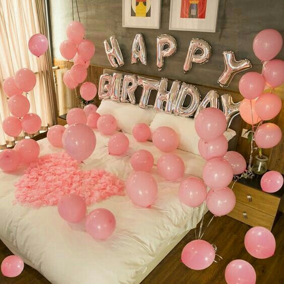 pink, surprise, follow me and balloons