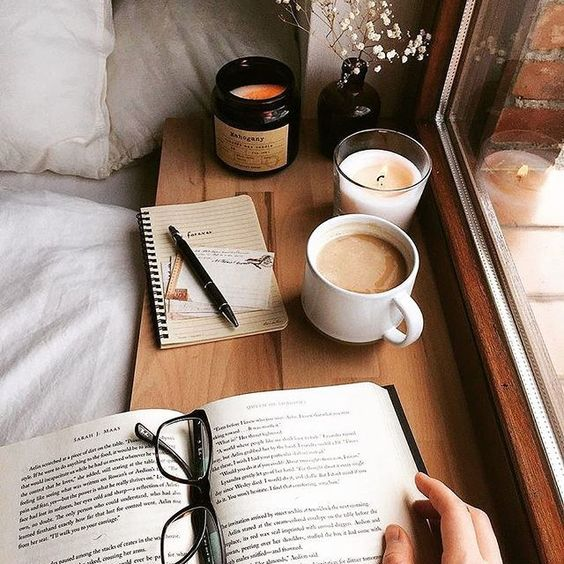 candle, book, autumn and fall