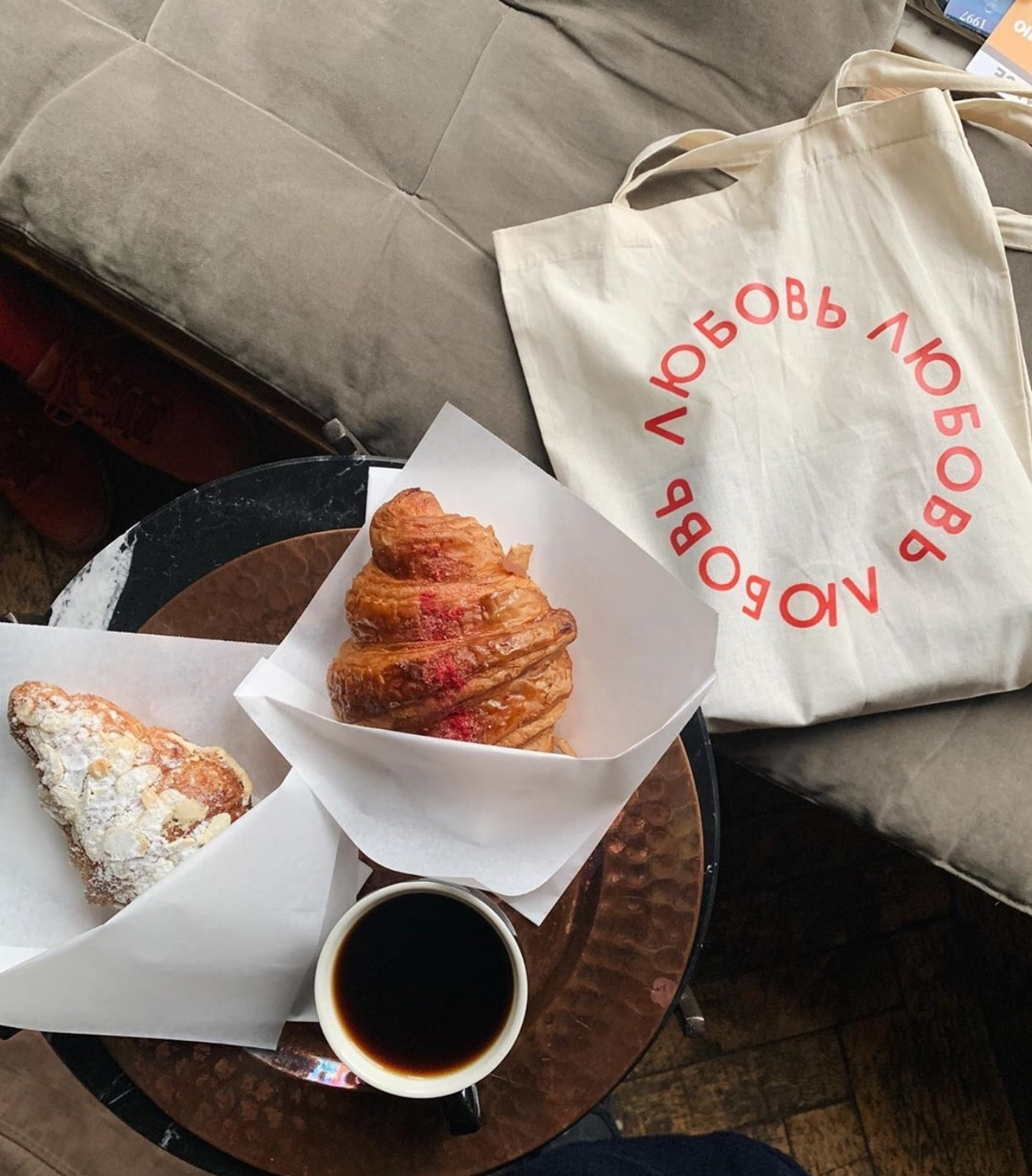 coffee, croissant, espresso and pastries