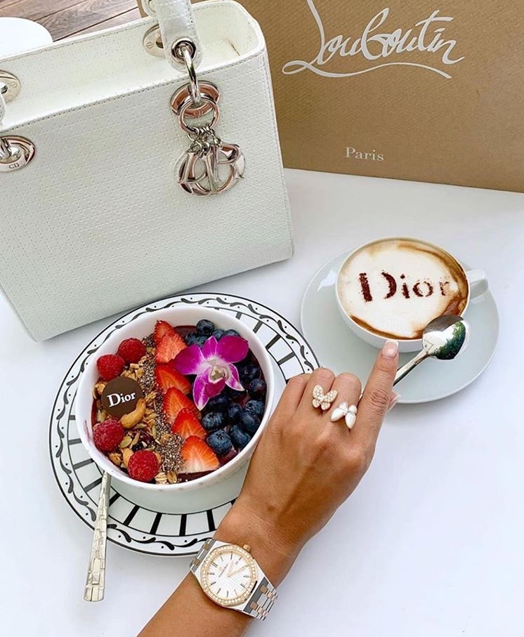 FRUiTS, cappuccino, dior and coffee