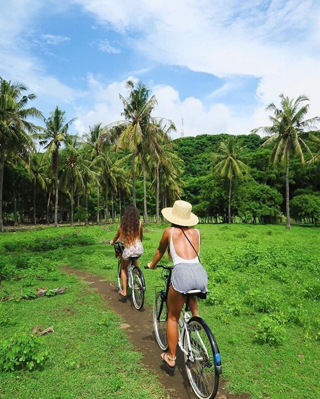 bff goals, holiday, cycling and bali vibes