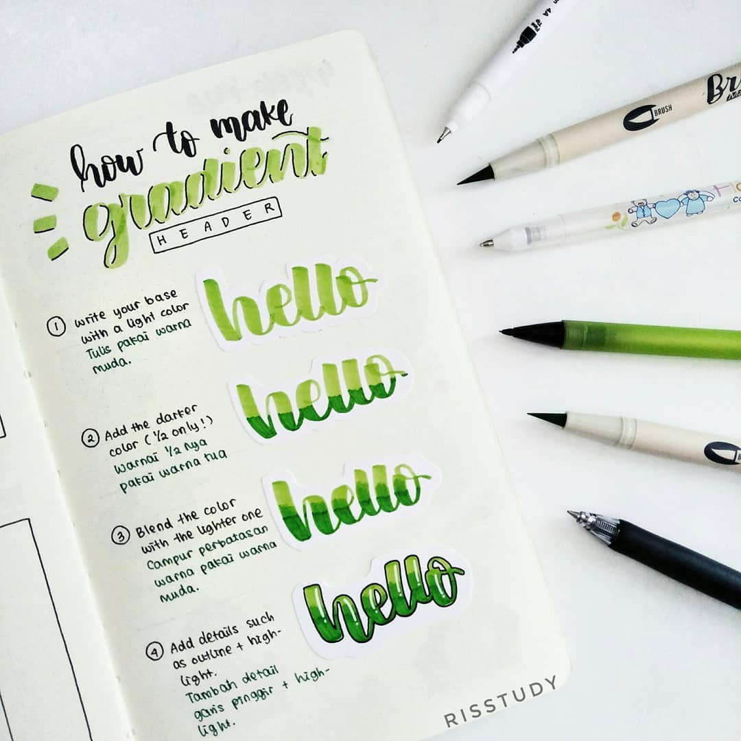 supplies, bullet journal, stationary and pen