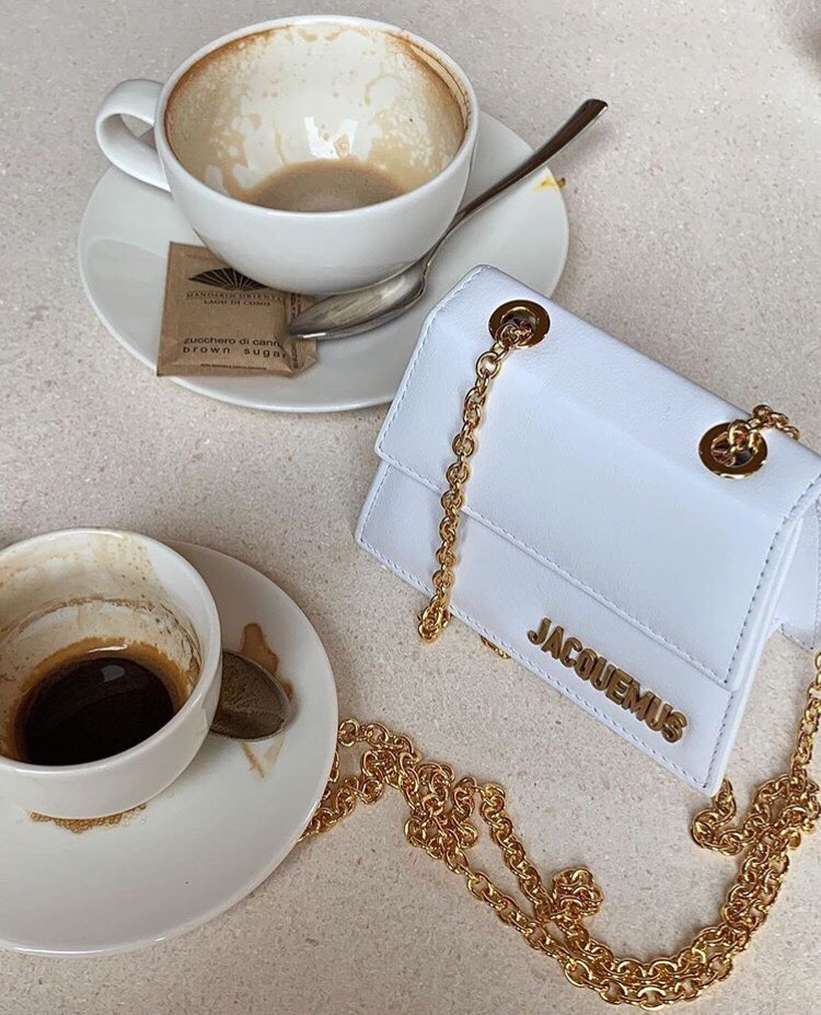 luxury, fashion, coffee cup and jacquemus
