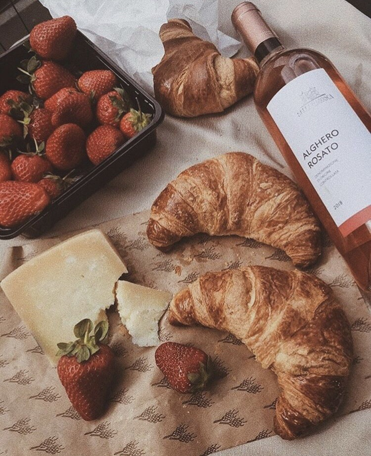 cheese, food, croissants and indie