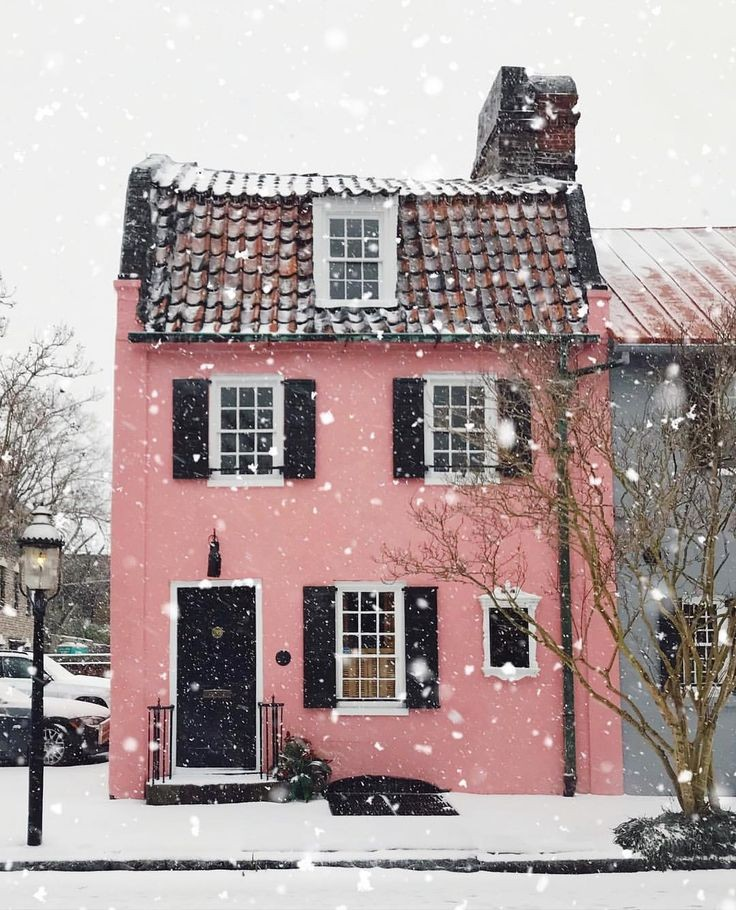 snow, house and winter