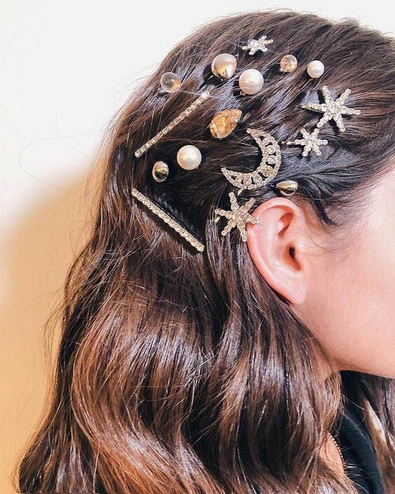 accessories, hair and style