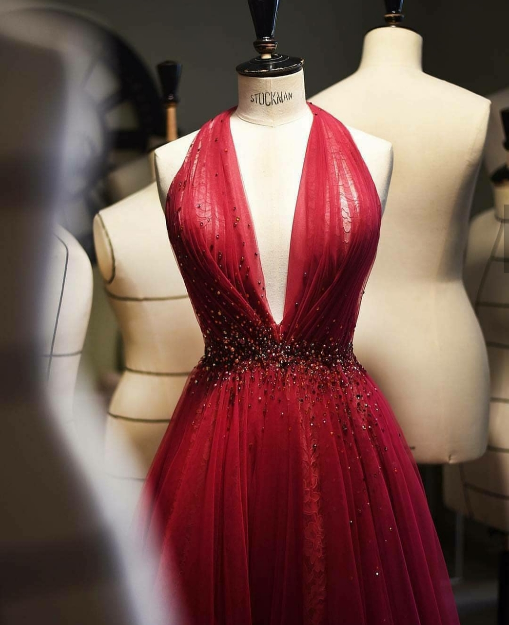 dress, red and beauty