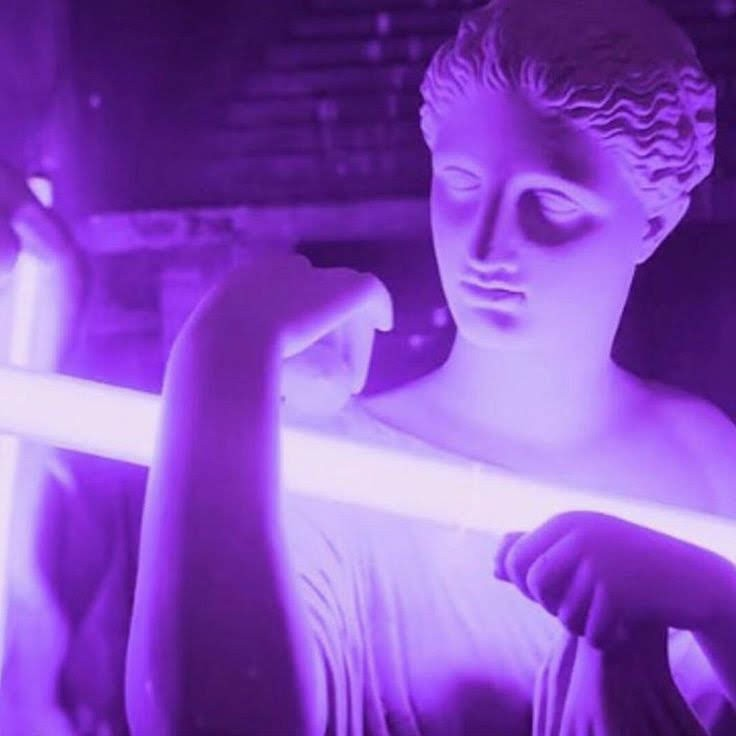 neon, tumblr, aesthetic and violet