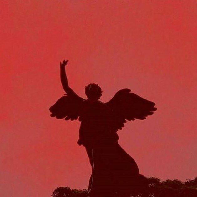 statue, red, aesthetic and angel