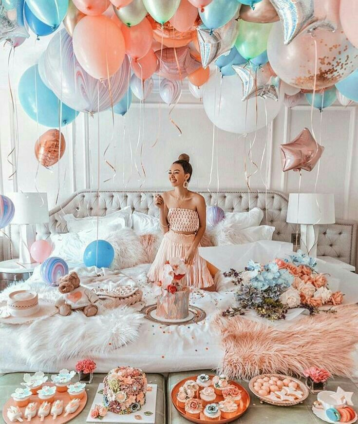 gifts, happiness, birthday party and surprise