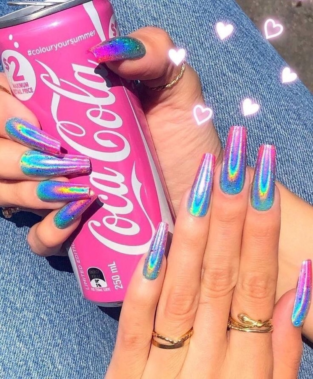 coca cola, pink, women and nails