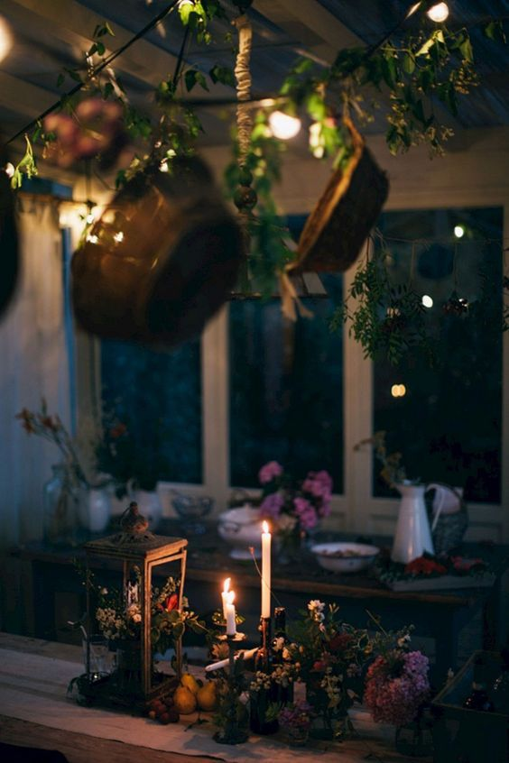 candles, plants, herbalism and wallpaper