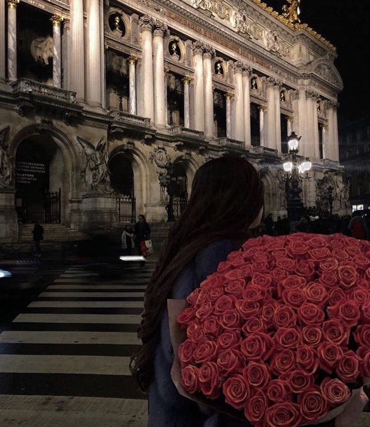 brunette, love, roses and italy