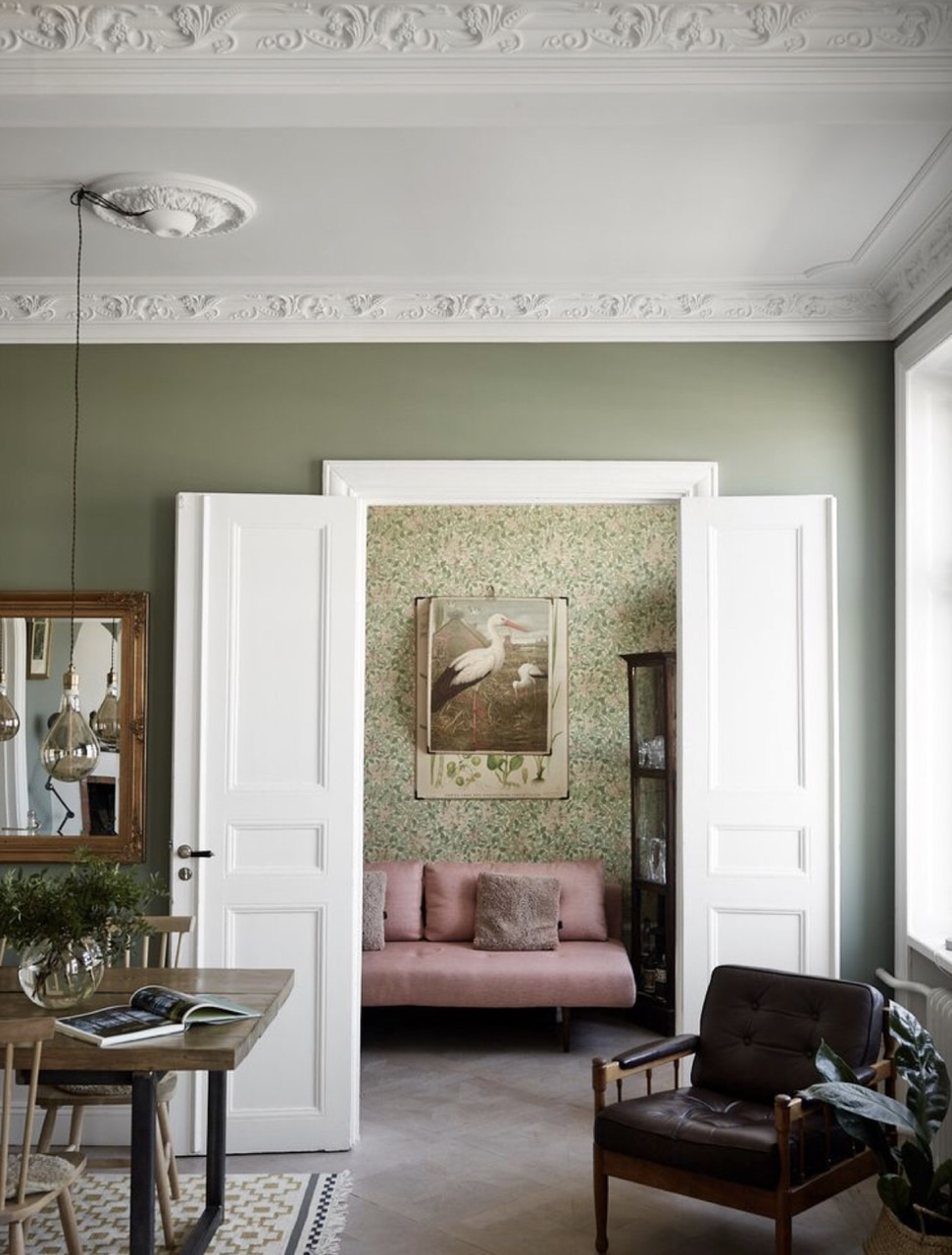 interior, details, house and green