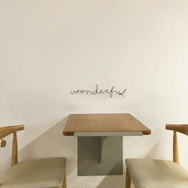 aesthetic, cafe, minimalistic and word
