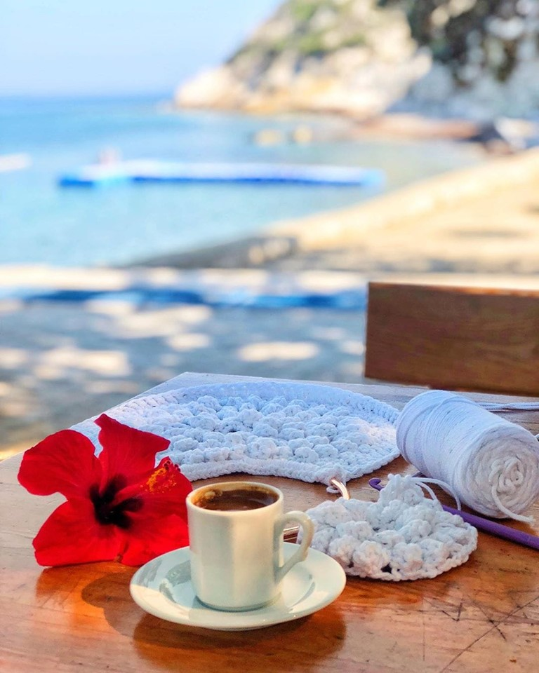 coffee, summer, beach and photography