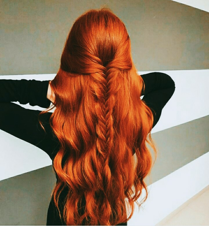 woman, moda, red and hair