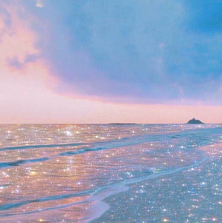 sea, pastel, ocean and sunset